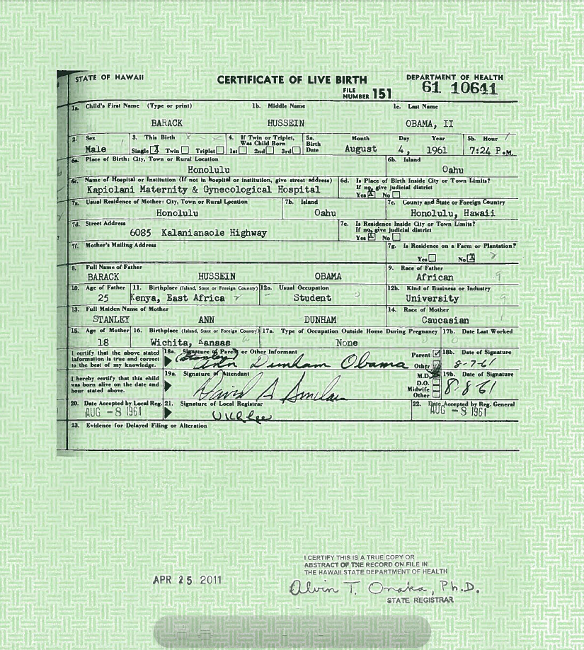 Obama Birth Certificate Confirmed Fraudulent By Arizona