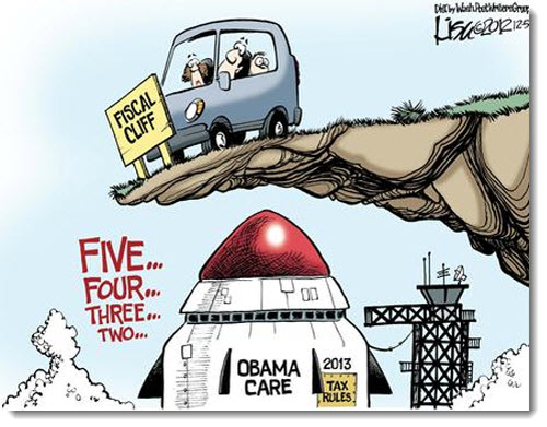 obamacare-fiscal-cliff-rocket-political-cartoon