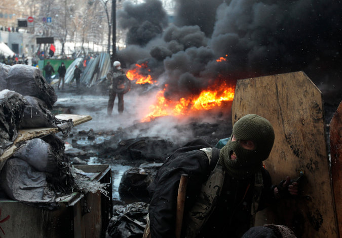 Protesters turned Kiev into a war zone, yet the President is blamed for the violence by the US?