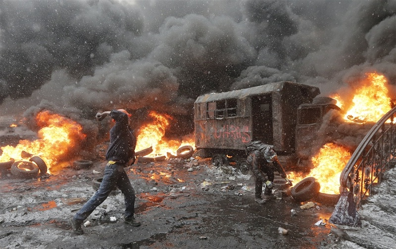 Chaos in Kiev, the capital of the Ukraine