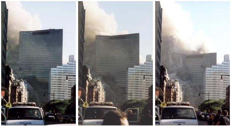 Building #7 COLLAPSES on 9/11 ... as in free-fall collapse identical to those which occur with every CONTROLLED DEMOLITION.