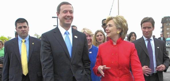 Former Maryland Gov. Martin O'Malley and Hillary Clinton