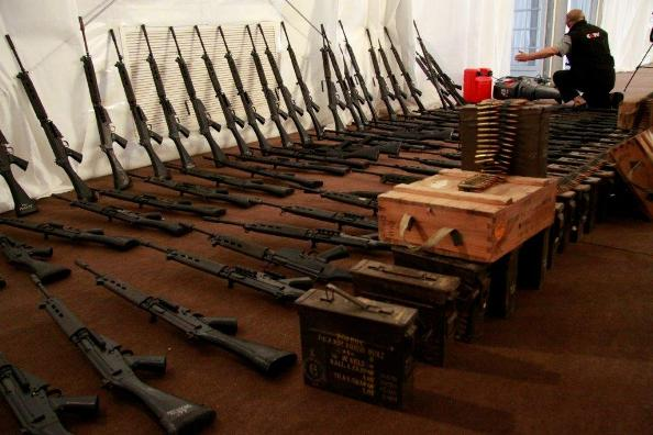 Weapons seized by the Gadhafi regime in 2011