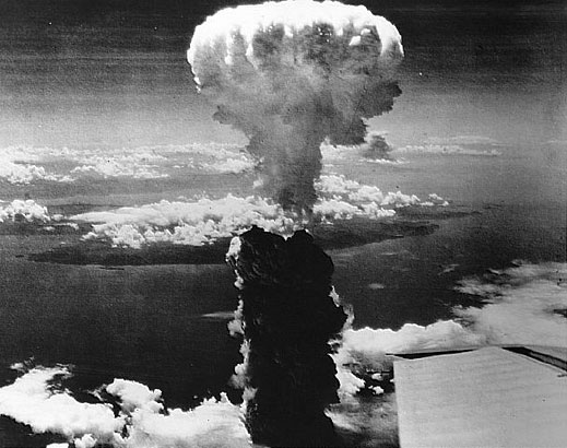 Atomic explosion over Hiroshima