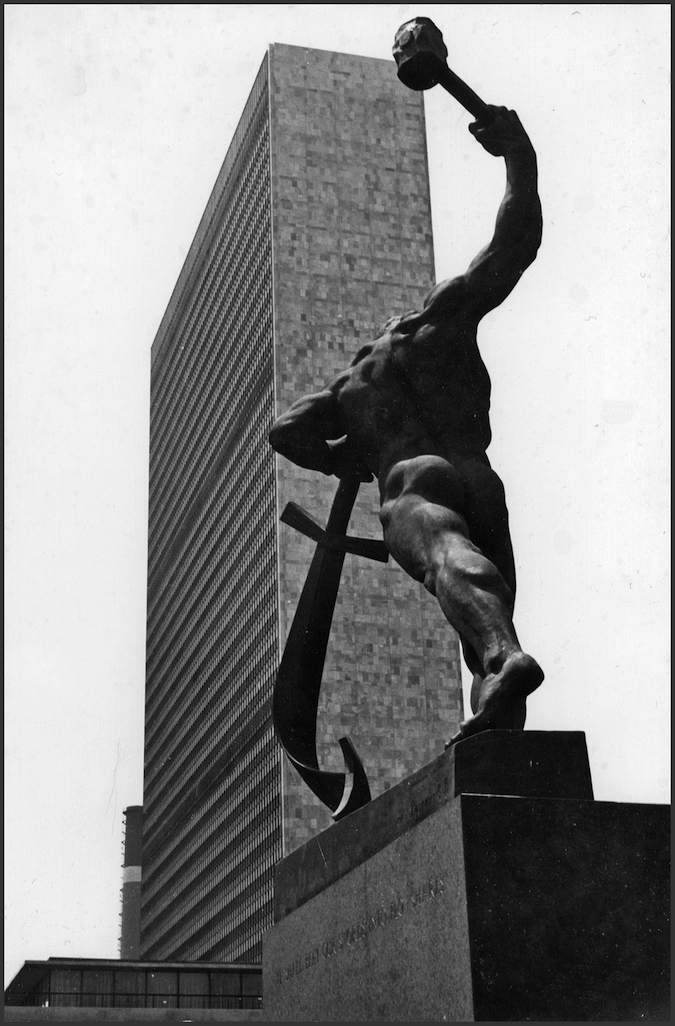 Swords into Plowshares Statue at the UN Building in New York City