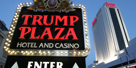 Atlantic City, UNITED STATES: The Trump Plaza hotel and casino in Atlantic City, New Jersey, is pictured 25 May 2007. Gambling has been legal in Atlantic City, one of the few such cities in the United States, since the first casino opened in 1978. AFP PHOTO/SAUL LOEB (Photo credit should read SAUL LOEB/AFP/Getty Images)
