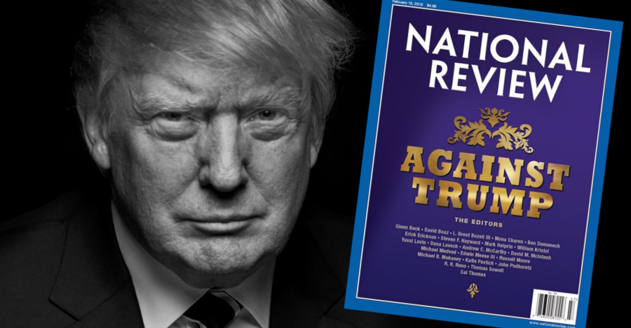 """So goes the clarion call of longtime conservative and Washington Times columnist Charles Hurt as he eviscerates the motives of National Review following that magazine's all out declaration of war against current GOP frontrunner, Donald Trump."""