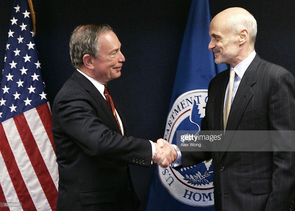 Michael Bloomberg with 9/11 co-conspirator Michael Chertoff