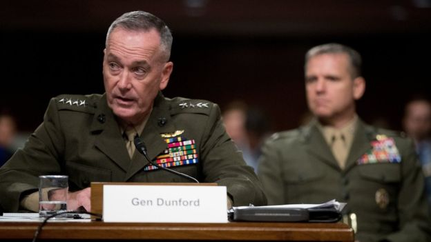 AP  •  America's highest-ranking military officer has warned against a US-imposed no-fly zone in Syria