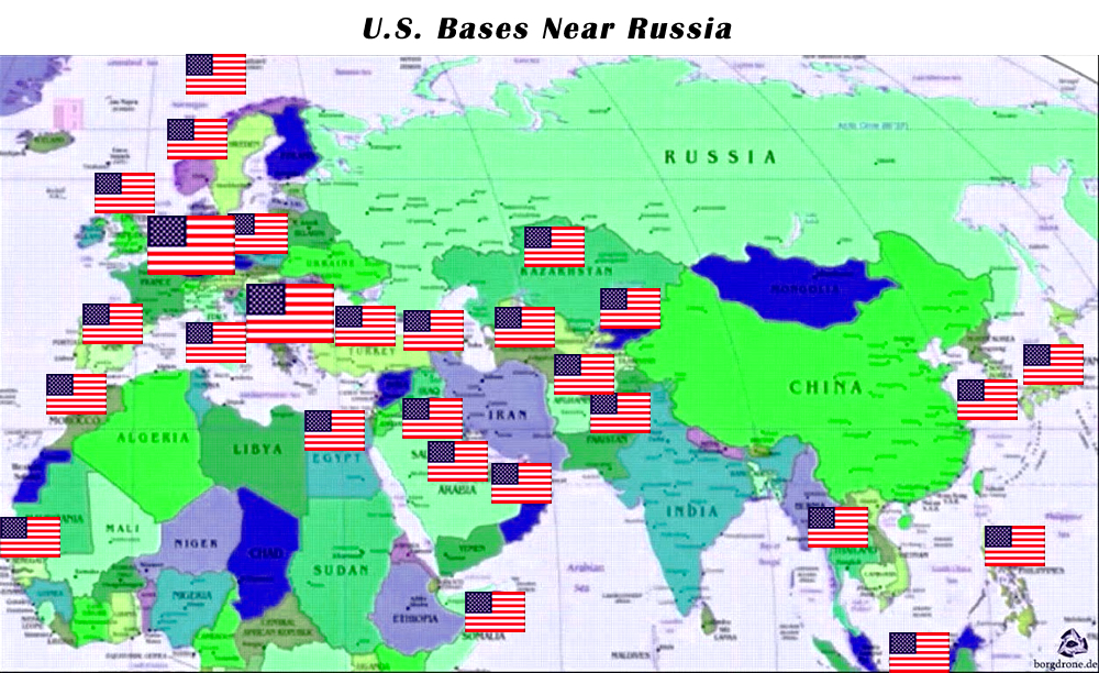 Military Bases In The Us Map Globalinterco - Us troops near russia map