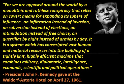 Image result for JFK globalist