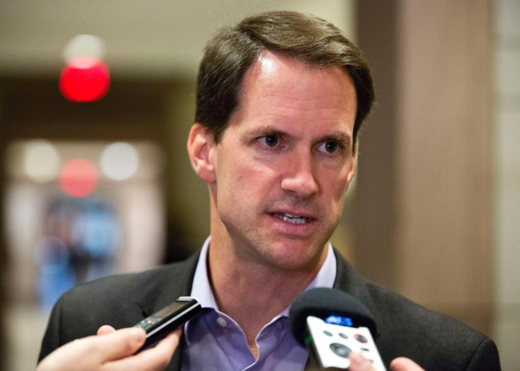 U.S. Representative Jim Himes (D-CT) speaks to the media after attending a closed meeting for members of Congress on the situation in Syria at the U.S. Capitol in Washington September 1, 2013.