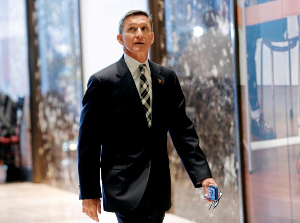 The son of retired US Army Lieutenant General Michael Flynn has been sharing the fake theories on social media Reuters