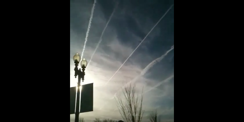 Red Alert: The D.C. Inauguration Day Is Being Massively Chemtrailed!